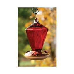 Woodlink NAH9 Audubon Ruby Diamond Glass Hummingbird Feeder