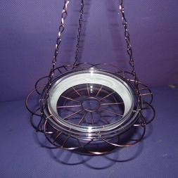 New in Box Hanging Bird Bath Feeder Plant Holder Wire Basket