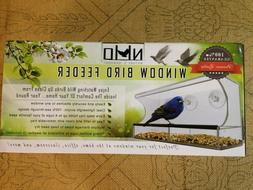 New Nature's Hangout Window Bird Feeder  Removable Tray Drai