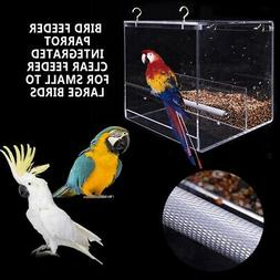 Parrot Integrated Automatic Feeder for Small to Medium Birds RYPET No-Mess Bird Feeder