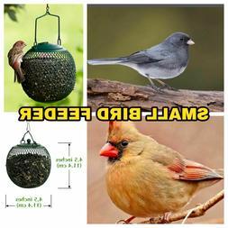 No/No Green Seed Ball Metal Wild Bird Feeder Dispenses Black