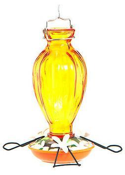 WOODLINK Oriole Bird Feeder, Fluted Glass, 20-oz. NA09