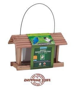 Outdoor Classic Cedar Wood Bird Feeder Hanger Backyard 3-lbs