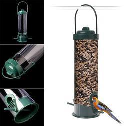 Outdoor Garden Plastic Bird Feeder Wild Hanging Pet Proof Se