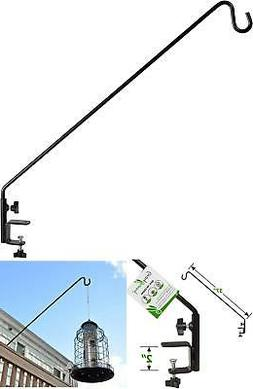 Outdoor Portable Hook Deck Pole for Bird Feeders Metal Clamp