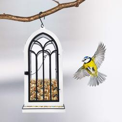 Outdoor Wild Bird Feeder Squirrel Proof Garden Seed Food Tre