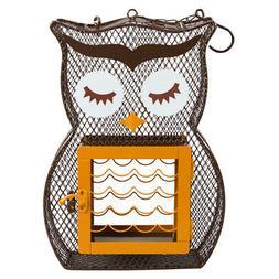 Owl Shaped Heath 22.5 oz. Mesh Dual Suet / Seed Cage Bird Fe