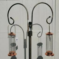 PAIR Bird Feeders 2 bronze Seeders, nut Holder Hanging Feed
