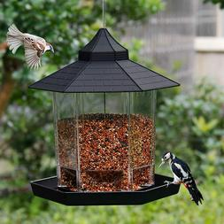 Panorama Wild Bird Feeder Squirrel Proof Seed Food Garden Ou