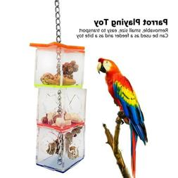 Parrot Bird Boredom Buster Forage Box Hanging Treat Foraging