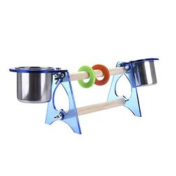 Bestmemories Parrot Standing Perches Small Birds Training Cl