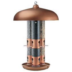 Perky-Pet 7103-2 Copper Finish Triple Tube Hanging Bird Feed
