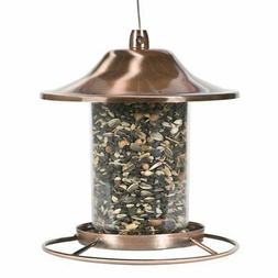 Perky-Pet Copper Panorama Bird Feeder 312C, 1 Tier