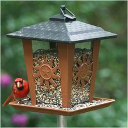 Perky-Pet Wild Bird Feeder Brown Sun and Star Design Lantern