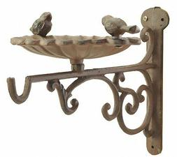 Plant Hanger Bird Bath Or Feeder Rust Brown Flower Basket Ho