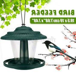 Plastic Waterproof Hanging Wild Bird Feeder Feeding Garden Y
