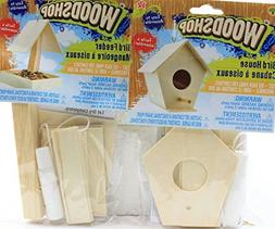 Easy To Assemble Activity Sets for Children Kids Playtime Toddler Fun Set of 2 Kids DIY Woodshop Bird House and Bird Feeder MAY VARY