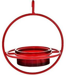 Couronne  Red Bird Feeder with Perch - 7 Inch Hanging Sphere