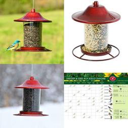 Red Sparkle Panorama Hanging Bird Feeder - 2 lb. Capacity