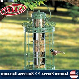 Round Steel Cage Tree Hanging Bird Seed Feeder Squirrel Proo