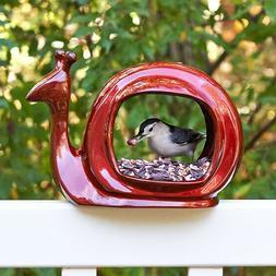 Ruby Red Snail Bird Feeder