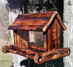 Rustic Beautiful large handmade hanging cedar wood square bi
