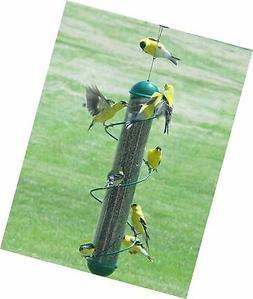 """Bird Quest SBF2G 17"""" Spiral Thistle Bird Feeder - Green"""
