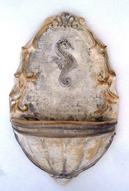 Seahorse water dish bird feeder mold plaster cement casting