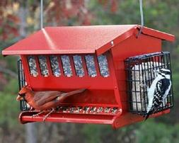 Heritage Farms Seeds & More Double-Sided Red Bird Feeder Out