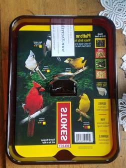 "Stokes Select Red Platform Bird Feeder Tray  8 1/2"" x 11"""