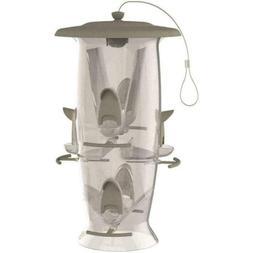 Stokes Select Wild Bird 3.5 Plastic Tube Bird Feeder 6 Ports