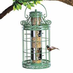 Collections Etc Springtime Hanging Bird Feeder, Vintage Fren