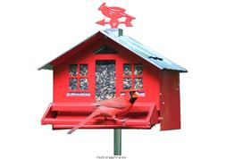 Squirrel-Be-Gone Red Country Style Squirrel Proof Bird Feede