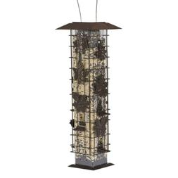 Squirrel Proof Bird Feeder Seed Food Tower Container Yard Ha