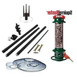 Brome Squirrel Buster Plus 1024 Birdfeeder  w/ Pole Kit & We