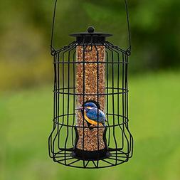 squirrel proof bird feeder decorative small outdoor