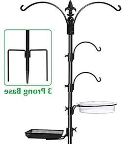 Squirrel Proof Bird Feeder Pole Multi Wild Bath Planter Hang