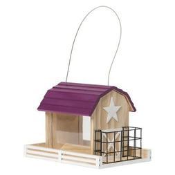 Perky Pet Star Barn Wood Chalet Bird Feeder