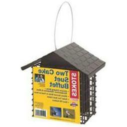 Stokes Bird Feeder Two Cake Suet for Clinging Birds like Woo