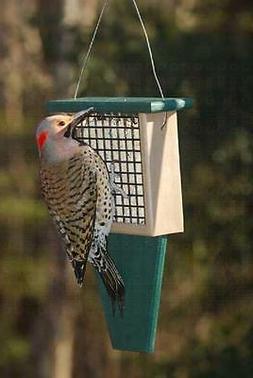 SUET BIRD FEEDER with TAIL PROP, Holds Standard Size Suet &