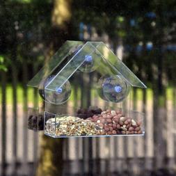 Transparent Plastic <font><b>Bird</b></font> <font><b>Feeder