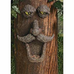 Tree Bark Face Bird Seed Feeder - Glow-in-the-Dark Eyes - Ya