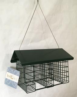 Triple Suet Feeder - Green Metal Hanging Seed Cake Bird Feed