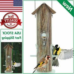 KINGSYARD Tube Bird Feeder Lightweight Full Metal Bird Wildl