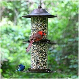 two level hanging wild bird seed feeder