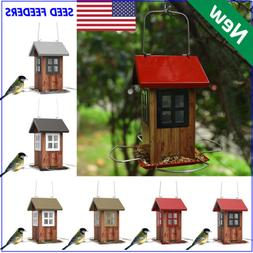 KINGSYARD Vintage Bird Feeder Full Metal Hanging Wildlife Se