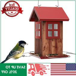 KINGSYARD Vintage House Wild Bird Feeders Squirrel Proof Han