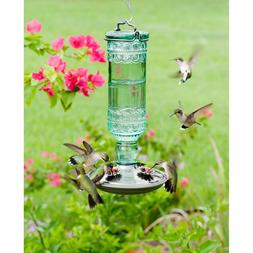 Vintage Style Glass Bottle Hummingbird Wild Bird Feeder Anti