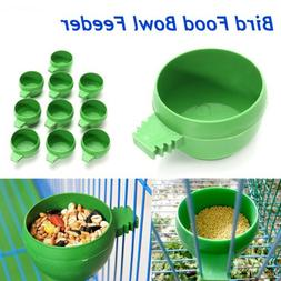 food Drinking water Parrot  Feeding Bowl Plastic  Bird Feede