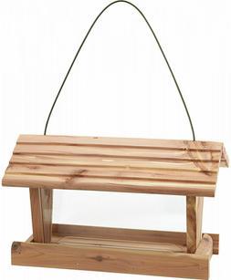wild bird feeder 3 lbs capacity cedar